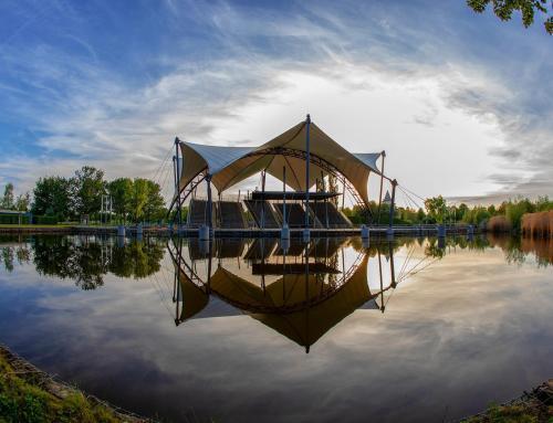 Seebühne Amphitheater im Elbauenpark