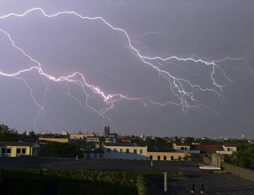 Gewitter & Blitze über Magdeburg