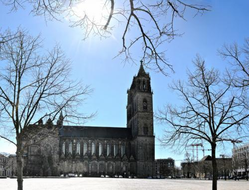 Magdeburger Dom Panorama im Winter