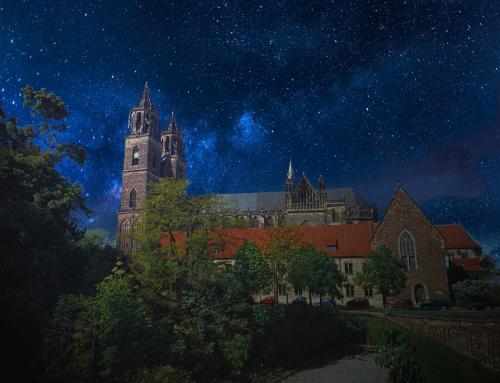 Magdeburger Dom Südfassade bei Nacht II