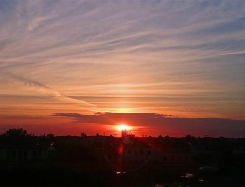 Magdeburg Sonnenaufgang mit Domblick
