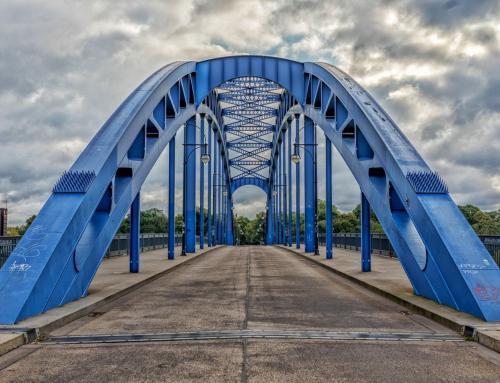Vor der Sternbrücke Magdeburg