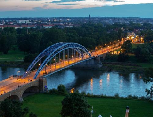 Sternbrücke Magdeburg aus der Luft