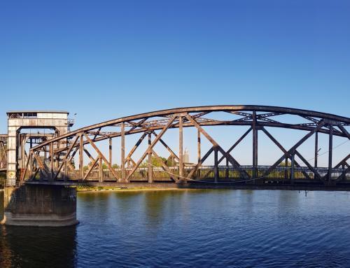 Hubbrücke Magdeburg Nordseite