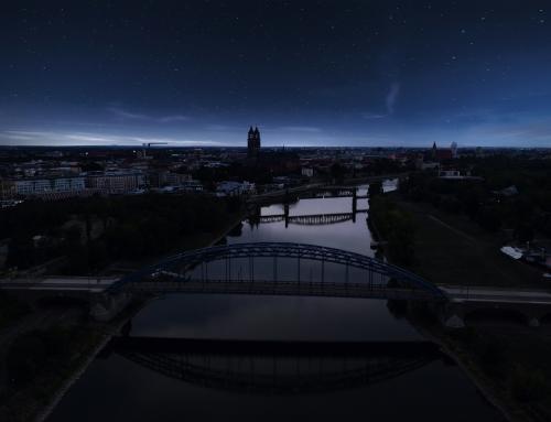 Magdeburg – Panorama bei Nacht