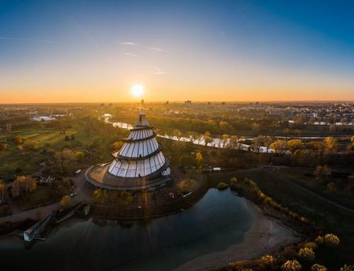 Jahrtausendturm im Elbauenpark Magdeburg