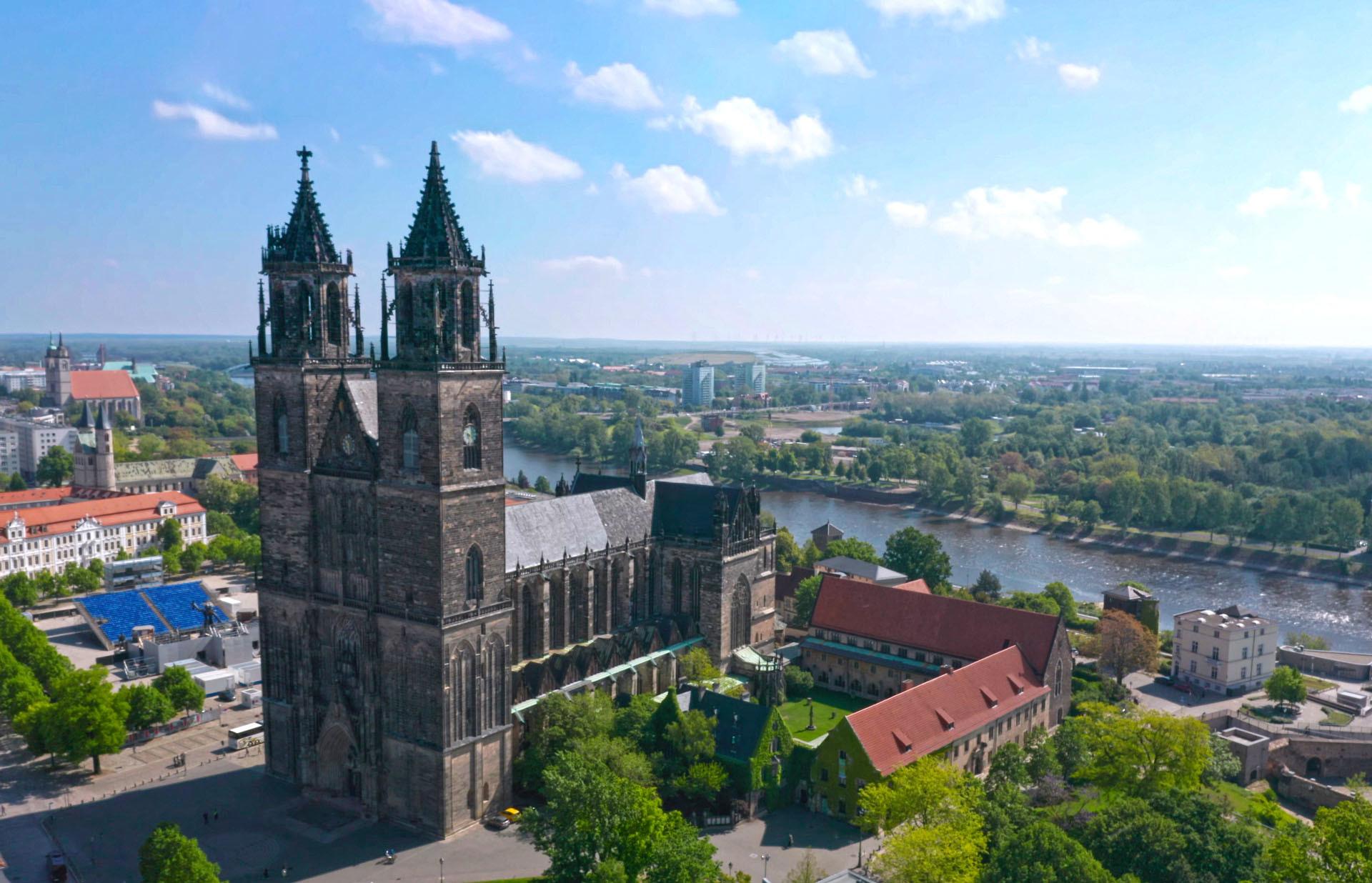 Magdeburger Dom | Panorama Luftaufnahme