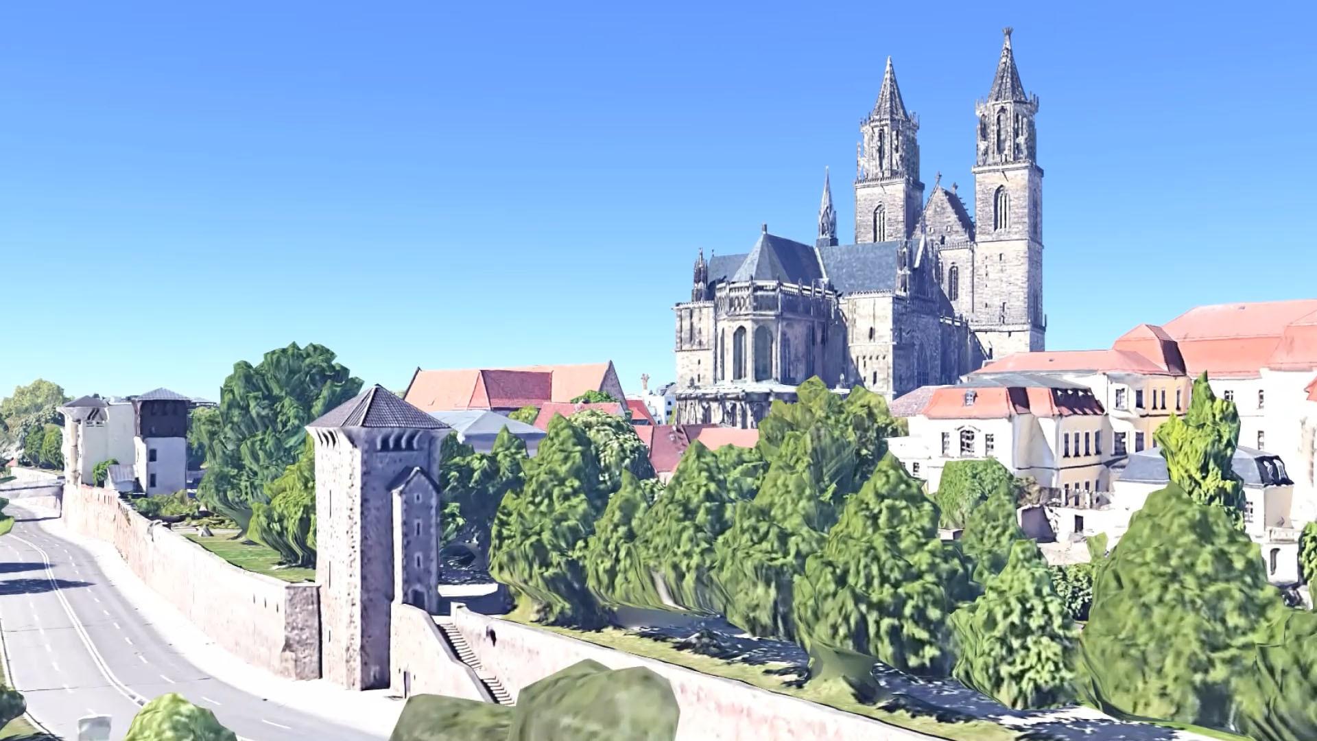 360° Simulation um den Magdeburger Dom