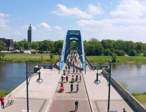 Sternbrücke Luftaufnahme | Fahrradtour durch Magdeburg