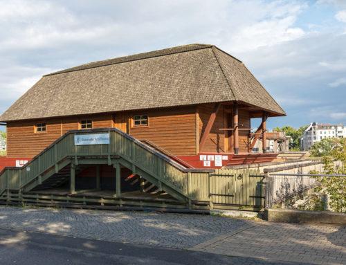 Historische Schiffmühle am Petriförder in Magdeburg