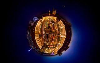 Weihnachtsmarkt Magdeburg - Little Planet Panorama